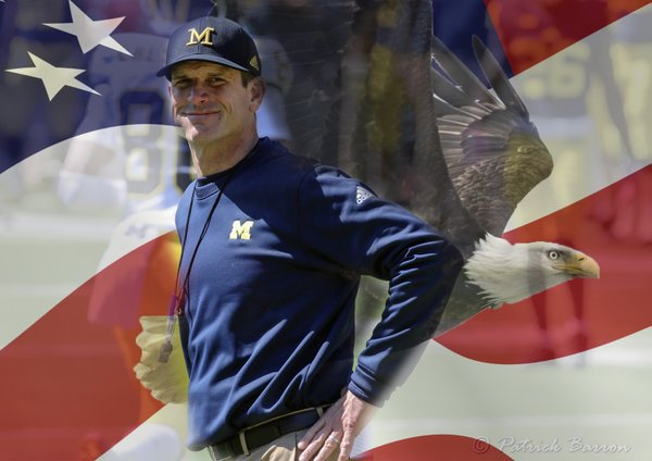 Jim Harbaugh and American Eagle